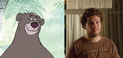 Seth Rogen practically plays Baloo the Bear (<i>The Jungle Book</i>) in all his movies: witty, irresponsible, pot-bellied.