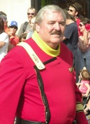 If James Doohan was actually marching, his doppelganger was.