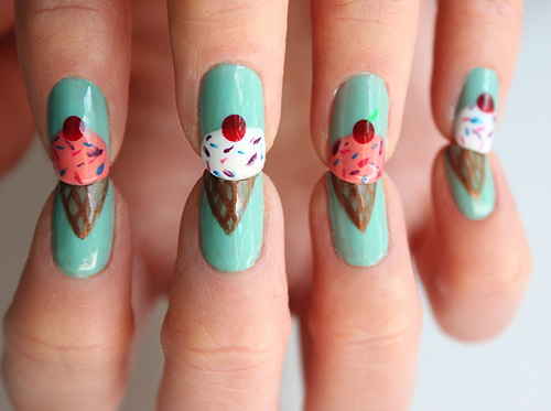 Nail Design D Art Ice Cream Cone