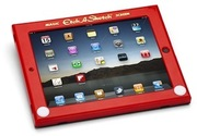 "<a href=""http://www.thinkgeek.com/gadgets/cellphone/e6e2/"">Etch-A-Sketch iPad Case (Think Geek, $39.99)</a>"