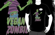 "<a href=""http://www.redbubble.com/products/configure/229081-t-shirt"">Vegan Zombie T-Shirt by Dennis Culver (RedBubble, $23.94)</a>"