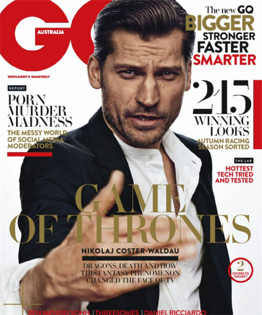 Game of thrones magazine cover
