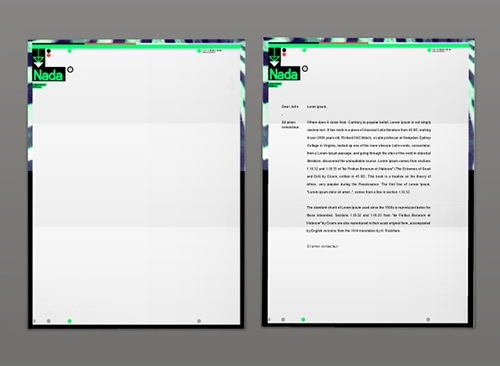 Professional Letter Layout Template