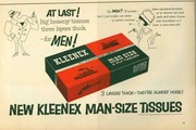 """They're almost huge!"" - Kleenex learns not to be accused of false advertising. (1964)"