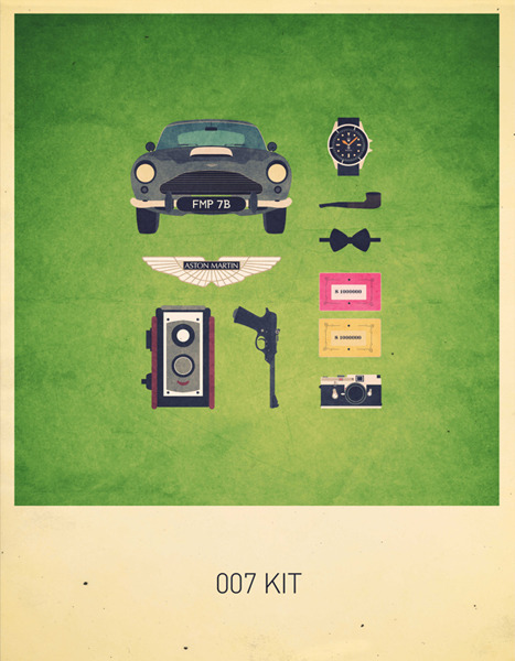 """Movie Kits"" Poster Series Features Iconic TV and Film Items"