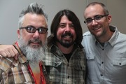 Paste's Michael Dunaway and Josh Jackson pose with Dave Grohl