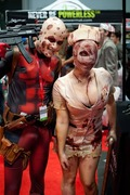 Deadpool and a Silent Hill Nurse