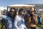Why yes, that is The Avett Brothers hanging out on a golf cart.