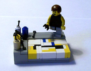 Jackson Pollock by Lego designer Annie Preston of Vignette Bricks