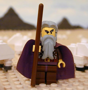 Moses, one character from The Brick Testament which retells the entire Bible in Lego form.