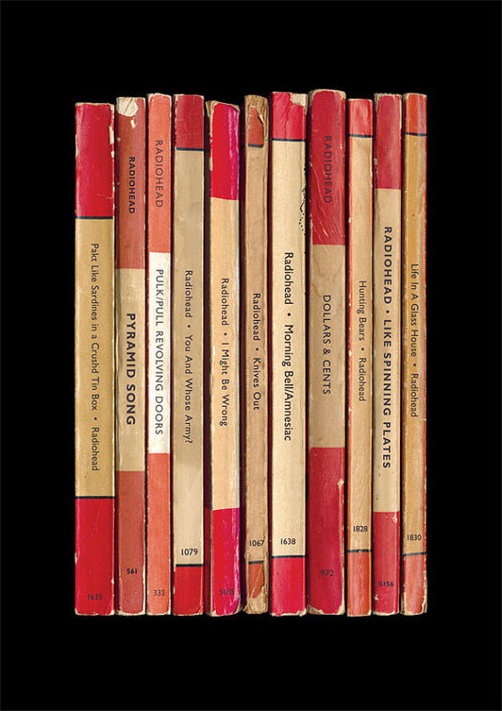 Radiohead Albums Designed as Book Covers
