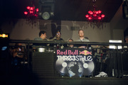 Red Bull Thre3style judges and headliners throughout the week sit on the balcony of The Mid.