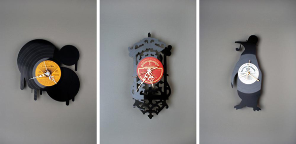 Artist Repurposes Vinyl Records As Wall Clocks And Works
