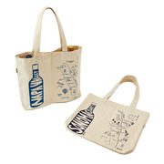 Double Wine Tote - Regions | $22 | Store 2 bottles in this canvas tote that maps different parts of wine country.