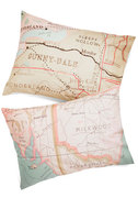 Map Your Dreams Pillowsham Set by Modcloth | $39.99 | Catch some zzs in the car while dreaming of your next destination.