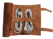 Cordito Cord Wrap by This is Ground | $39.95 | Roll your loose cords into this leather organizer.