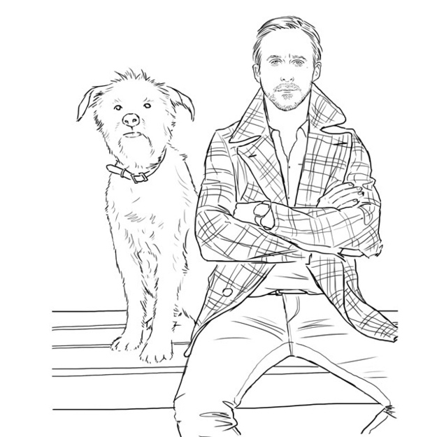 Check Out Colour Me Good, A Ryan Gosling Coloring Book