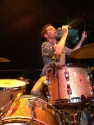 Ryan setting up his drum zone in Chapel Hill. We've played Local 506 many times together and I am proud to report that we did not sleep over in the club this time.