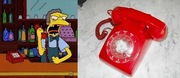 Moe's much-used red telephone (pearlsvintage, $68.00)