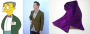 Smithers' smart green coat (velvetraven, $19.50) and purple bow-tie (meanmatilda, $31.99).