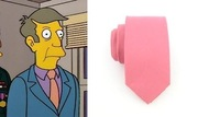 Principal Skinner's not-quite-authoritarian pink neck-tie (rabbitstop, $17.95)
