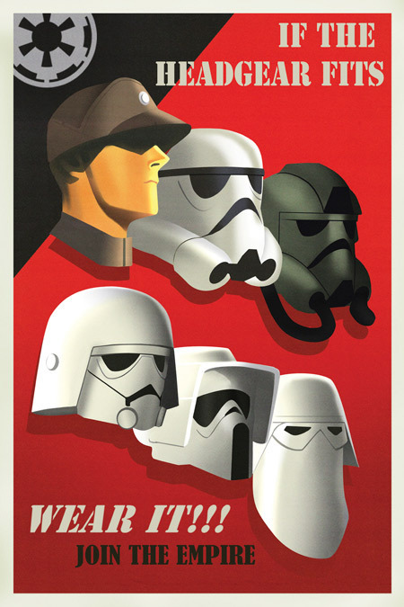 "Star Wars Propaganda Posters Urge You to ""Back the Imperial Forces"""