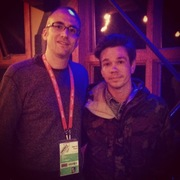 Paste editor Josh Jackson with Nate Ruess from fun.