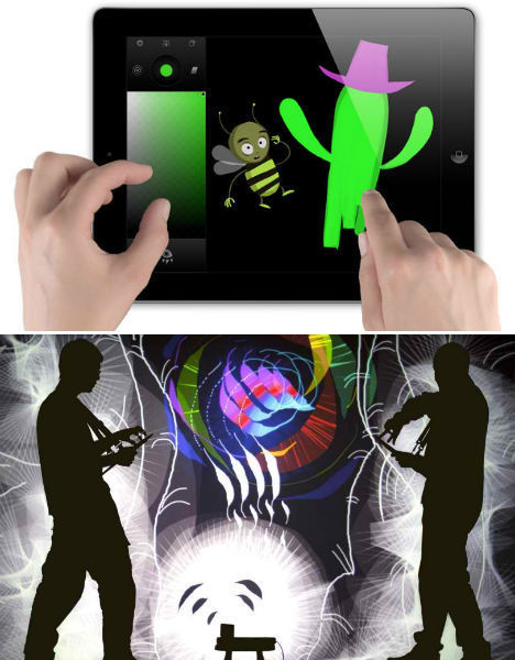 Tagtool App Turns Illustrations Into Projected, Animated Art