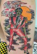 "There are so many Thriller tattoos in the world. (<a href=""http://www.pumpispumping.com/2009/11/ugliest-tattoos/"">via</a>)"