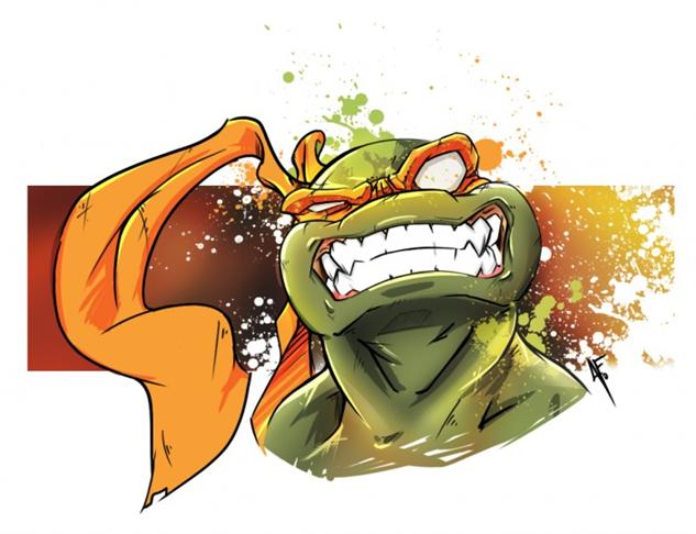 Ninja turtle michelangelo drawing - photo#18