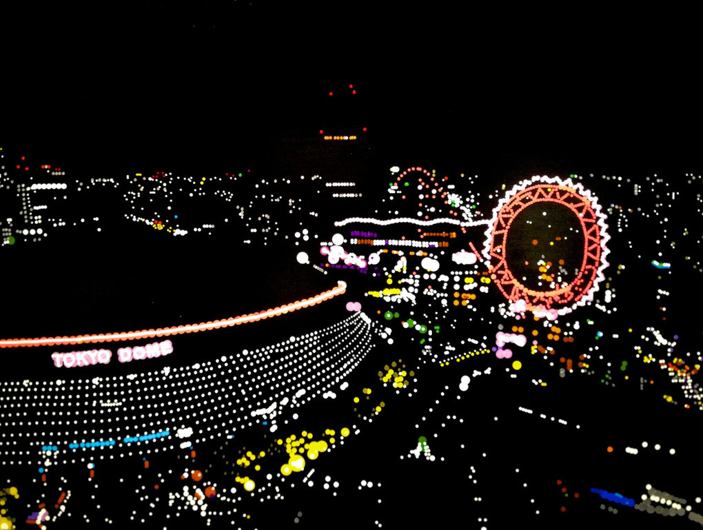 Incredibly Realistic Tokyo Cityscapes Recreated with Only Dot Stickers