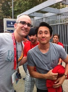 Me and Steven Yeun (Glenn)