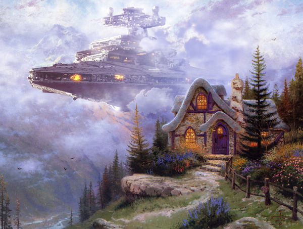 Stormtroopers Invade Thomas Kinkade Paintings in 'Wars on Kinkade' Series