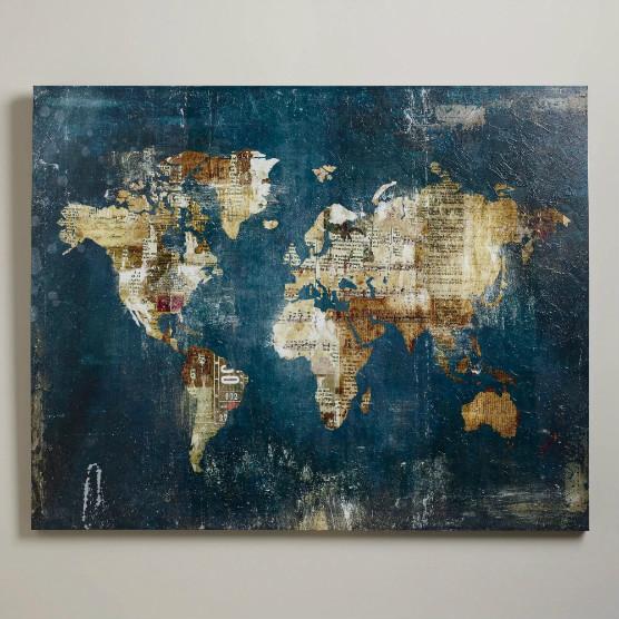 World Market Art: Cartographic Home Décor To Inspire Escape :: Travel