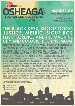 Black Keys, Sigur Rós to Play Osheaga Festival