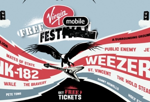 Weezer, Blink 182 Headlining This Year's (Free!) Virgin Mobile Festival