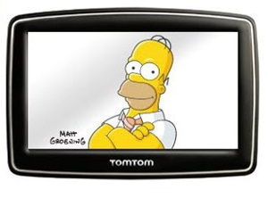 Homer Simpson and GPS: Together at Last