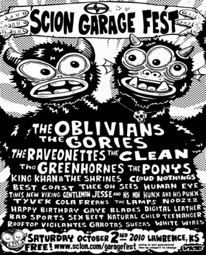 Oblivians, Best Coast, King Khan, Many More Awesome Bands to Play Scion Garage Fest