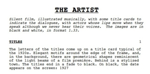 Read the Oscar-Nominated Script for <i>The Artist</i>