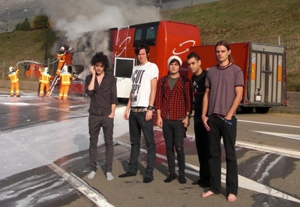 Kill Hannah narrowly escape tour bus fire