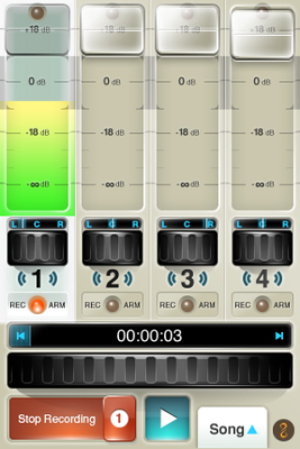 FourTrack audio app for iPhone enables portable recording