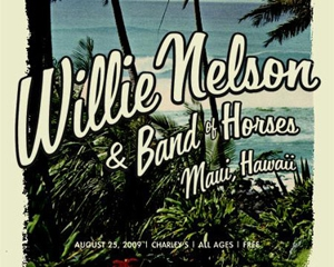 Willie Nelson and Band of Horses Head to Hawaii for MySpace Secret Show Tomorrow