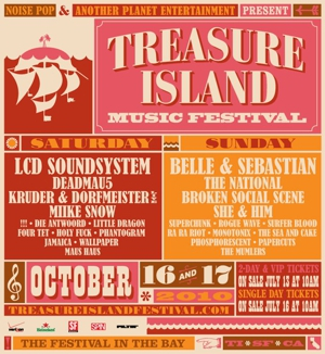 LCD, Belle & Sebastian and The National Play Treasure Island This Weekend