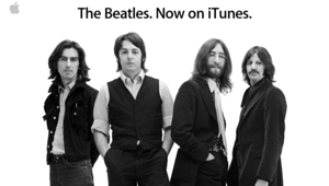 "Apple: ""The Beatles. Now on iTunes."""