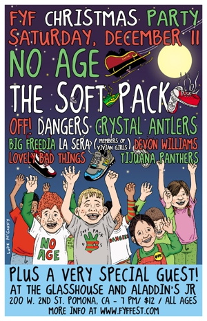 No Age, The Soft Pack, OFF!, Many More to Play FYF Christmas Party