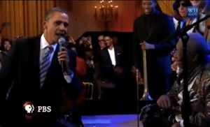 "Watch President Obama Sing ""Sweet Home Chicago"""