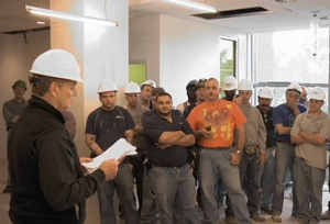 Bill Murray Reading Poetry to Construction Workers