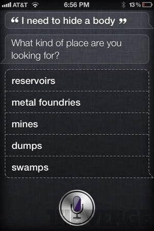Awesome of the Day: Shit That Siri Says