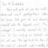 12-Year-Old Addresses His Grievances to Dumbledore