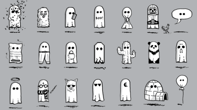 <i>100 Ghosts</i>: Harmless Haunts Illustrated by Doogie Horner